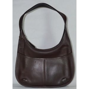 Coach Vintage Leather Shoulder Bag Dark Brown